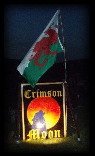 Crmson Moon Welsh Flag
